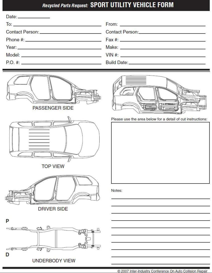 Scott Street Auto Parts Inc Cut Sheets Auto Part Forms